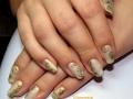 маникюр рисунок на ногтях золотом